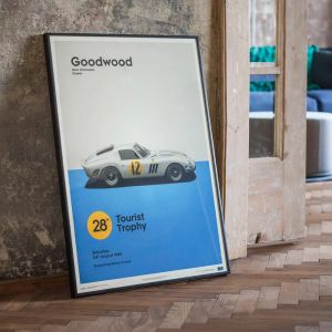 Poster Ferrari 250 GTO - white - Goodwood TT - 1963