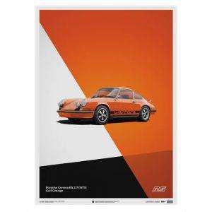 Poster Porsche 911 RS - Arancione