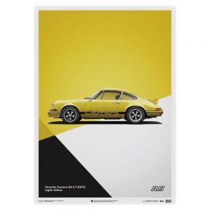 Poster Porsche 911 RS - yellow