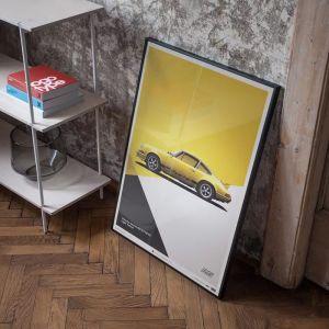 Poster Porsche 911 RS - giallo