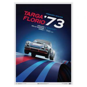 Cartel Porsche 911 RSR - Martini - Targa Florio - 1973
