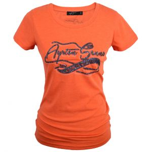 Damen T-Shirt Vintage orange