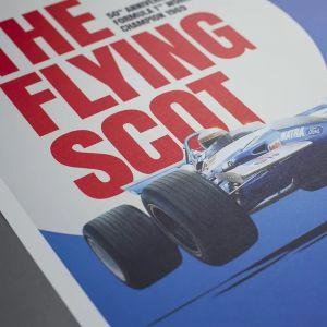 Poster Matra MS80 Sir Jackie Stewart Nürburgring GP 1969