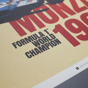 Poster Matra MS80 Sir Jackie Stewart - Monza Victory 1969