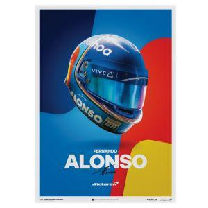 Poster McLaren Fernando Alonso casco 2018