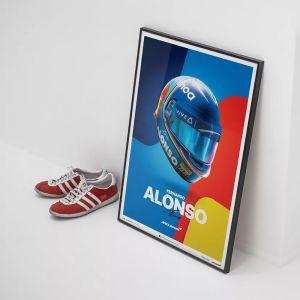 Affiche McLaren Fernando Alonso casque 2018