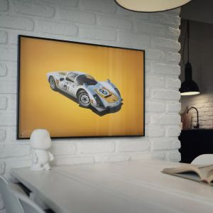 Poster Porsche 906 - bianco - Japanese GP - 1967 - Colors of Speed