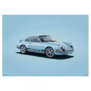 Poster Porsche 911 RS - blau - Colors of Speed