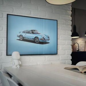 Cartel Porsche 911 RS - azul - Colors of Speed