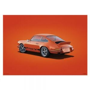 Cartel Porsche 911 RS - Tangerine - Colors of Speed