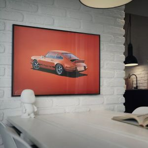 Poster Porsche 911 RS - Tangerine - Colors of Speed