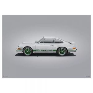 Cartel Porsche 911 RS - Blanco - Colors of Speed