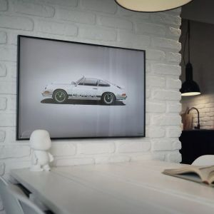 Poster Porsche 911 RS - Bianco - Colors of Speed