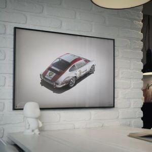 Cartel Porsche 911R - BP Racing Monza 1967 - Colors of Speed