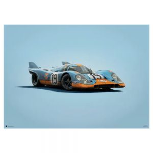 Cartel Porsche 917 - Gulf - 24h Le Mans - 1971 - Colors of Speed