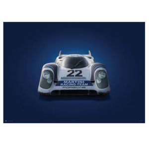 Cartel Porsche 917 - Martini - 24h Le Mans- 1971 - Colors of Speed