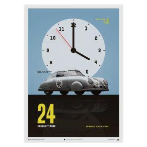 Cartel Porsche Gmund - Plata - 24h Le Mans - 1951
