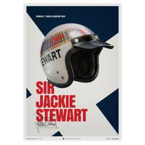 Manifesto Sir Jackie Stewart - Casco - 1969