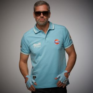 Gulf Poloshirt Vintage light blue