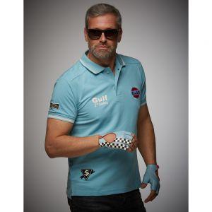 Gulf Poloshirt Vintage azul claro