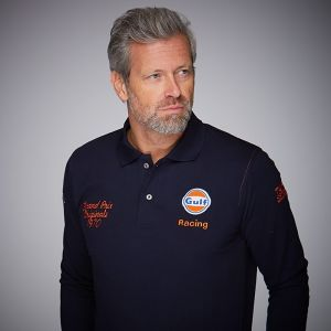 Gulf Corkscrew Poloshirt long navy blue