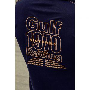 Gulf Corkscrew Poloshirt lang navy blue