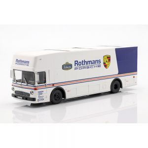Mercedes-Benz O 317 race transporter Rothmans Porsche white / blue 1/43