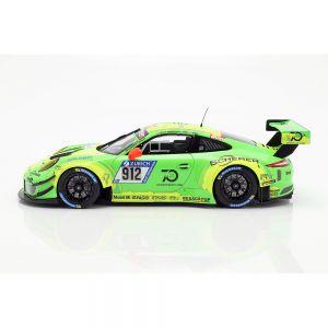 Porsche 911 (991) GT3 R #912 vainqueur des 24h du Nürburgring 2018 Manthey Racing 1/18