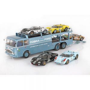 Fiat Bartoletti 306/2 Shelby Cobra transportador de carreras Alan Mann Racing Ltd 1/18