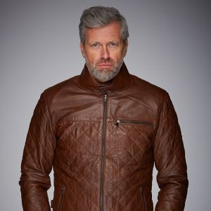 Gulf Leather Jacket Belrose cognac
