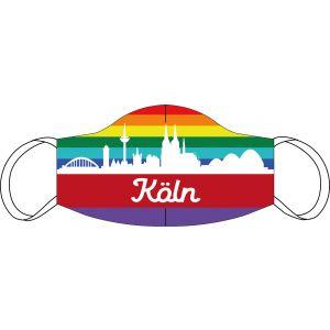 Mund-Nasen Maske Köln Regenbogen