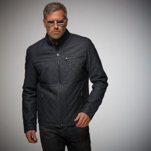 Gulf Leather Jacket Belrose indigo
