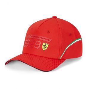 Scuderia Ferrari Cap Infographic red