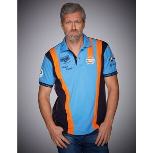 Gulf Poloshirt Racing Team cobalt
