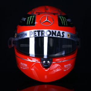 Michael Schumacher replica casco 1:1 Final 2012