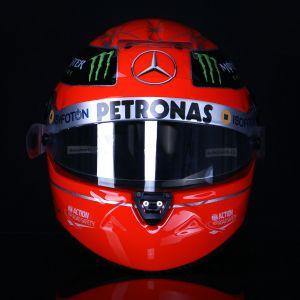 Réplica de casco Michael Schumacher 1:1 2012