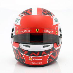 Charles Leclerc casco en miniatura Ferrari SF1000 #16 1/2