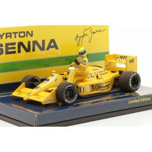 Ayrton Senna montando en S. Nakajimas Lotus 99T #11 Italia GP F1 1987 1/43