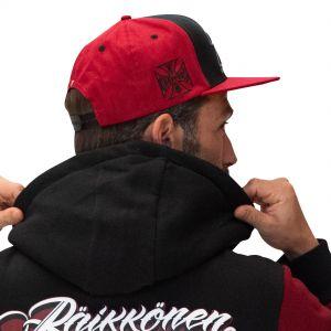 Cappello di Kimi Raikkkonen Cross Seven con visiera piatta rosso