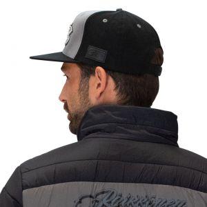 Cappello di Kimi Räikkönen con logo stampato a visiera piatta grigio