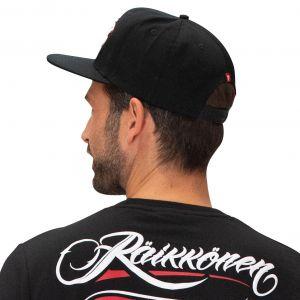 Kimi Räikkönen Cap Script Logo Flatbrim schwarz