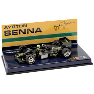 Ayrton Senna Lotus 97T 1985 Box open