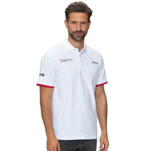 Porsche Motorsport Team Poloshirt white