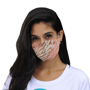 Mouth and nose mask zebra