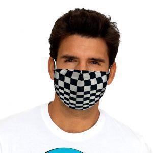 Mascherina protettiva con bandiera a scacchi