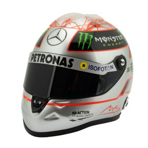 Michael Schumacher Platin-Helm Spa 300th GP 2012 1:2