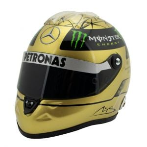 Michael Schumacher Spa 2011 Gold-Helm 1:2