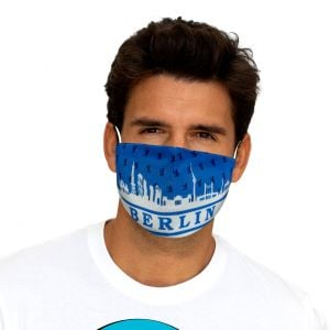 Mouth and nose mask Berlin Skyline blue