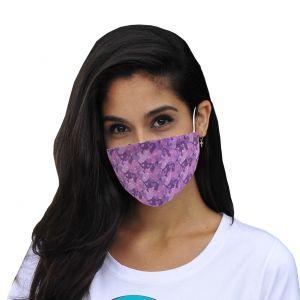 Maschera bocca e naso maschera cuori