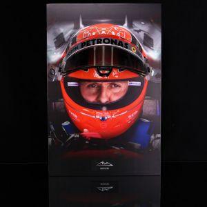 Michael Schumacher Visierwandbild mit original Helmvisier 2012 Finale Edition